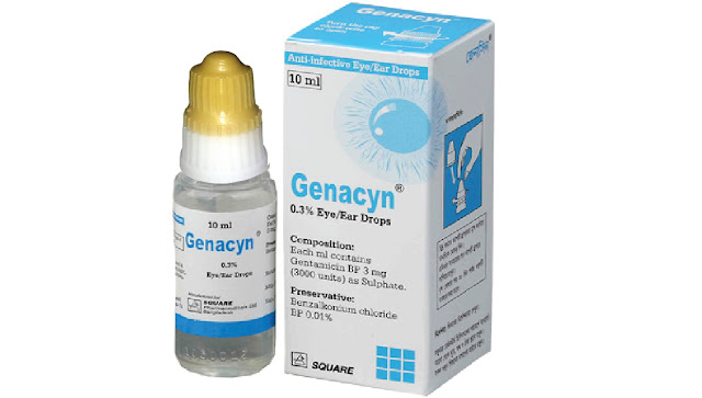 fortified gentamycin eyedrop preparation