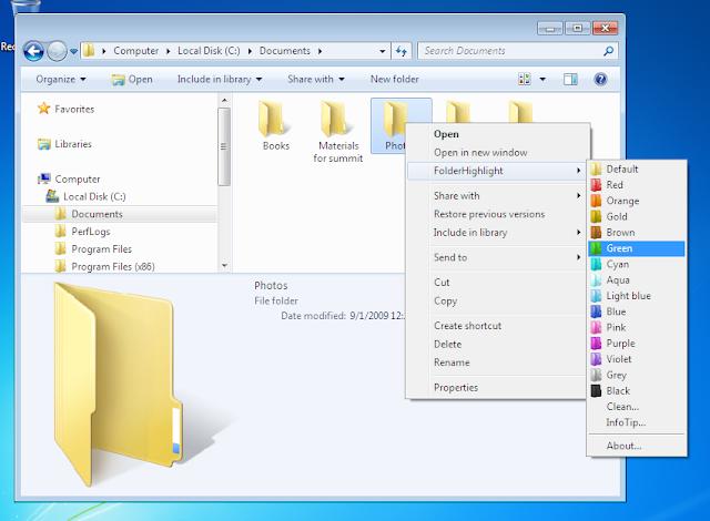 طريقة لتغيير لون المجلدات لتبدو بشكل أجمل في ويندوز