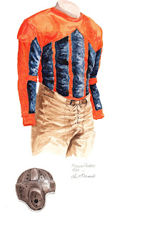 1934 University of Florida Gators football uniform original art for sale