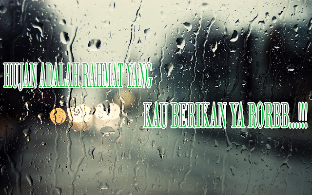 Gambar kata-kata romantis tentang Hujan