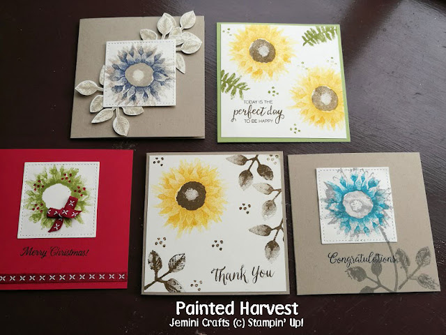 Sunflowers and Christmas in one stamp set