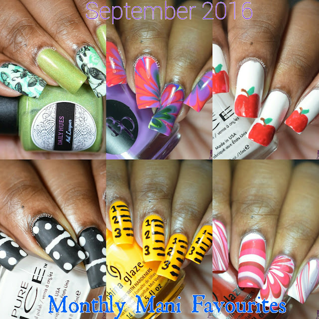 September 2016 Monthly Mani Favourites