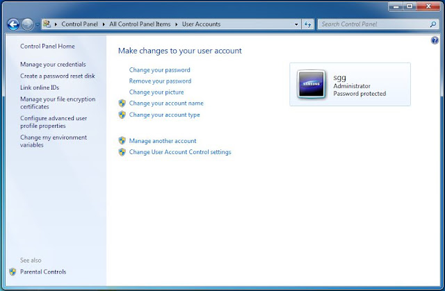 password sukses di buat