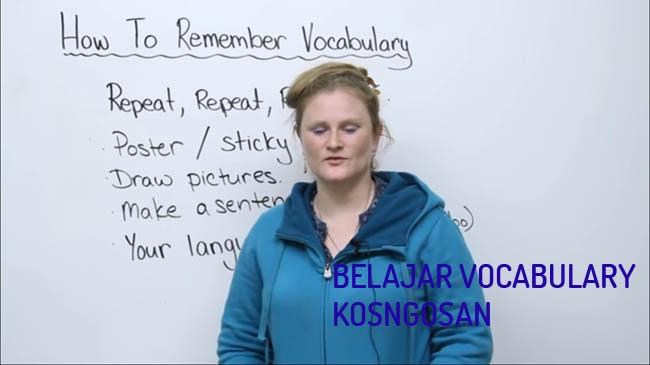 belajar vocabulary bahasa inggris