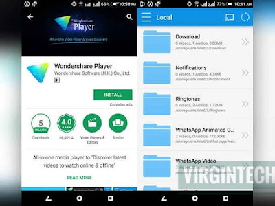Head to play store and download Wondershare Player which is