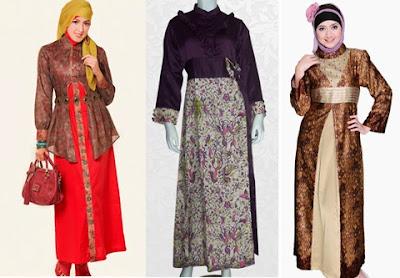20 Model Baju Gamis Batik Untuk Orang Gemuk Pendek 2018