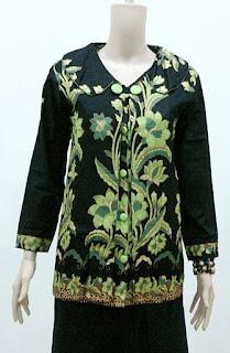 Gambar Model Baju Batik Wanita Lengan Panjang