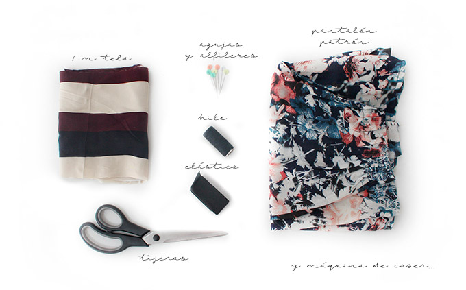 diy-falda-pantalón-materiales