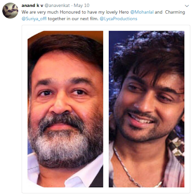 KV Anand Tweet About Surya37 Images