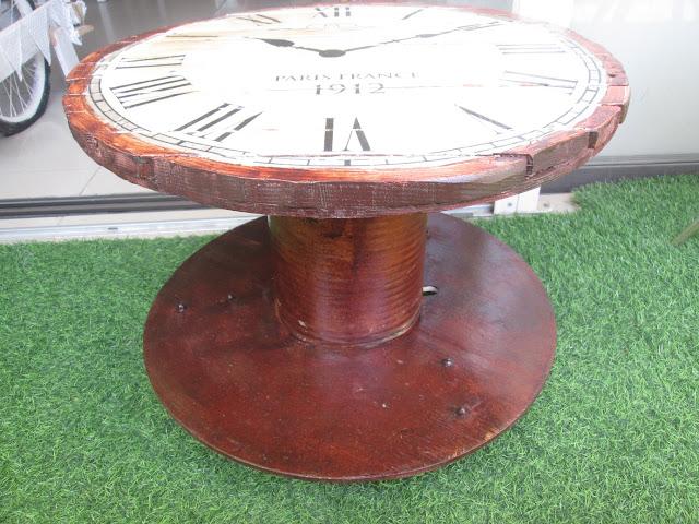 IMG 0089 - שולחן קפה מסליל חוטי חשמל