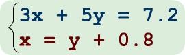 Traducción algebraica del problema aitmético