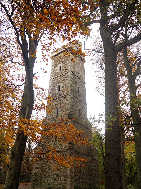 Clermiston Tower on Corstorphine Hill, Edinburgh, Scotland