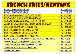 List-Harga-Kentang-French-Fries-Curah