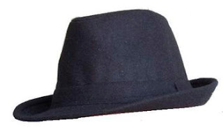 Blue Trilby Hat