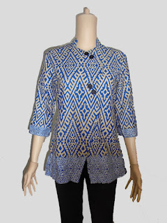 Baju batik wanita lengan 3/4 Motif Songket