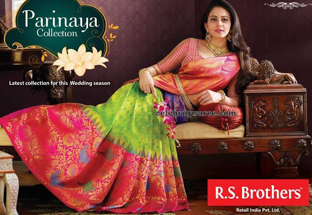 Rakul Preet Singh Green and Pink Bridal Sari
