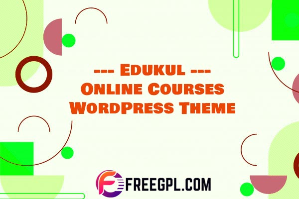 Edukul - Online Courses WordPress Theme Download Free