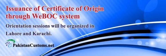 Issuance of Certificate of Origin-in-WeBOC