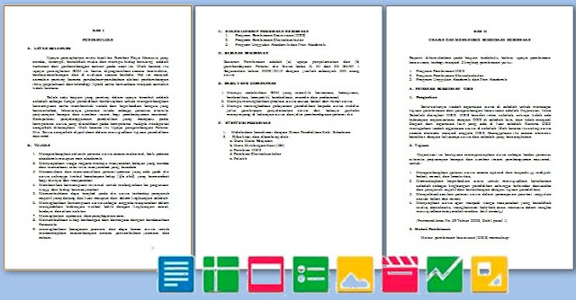 Contoh Program Kerja Kesiswaan SMP SMA MA SMK Format Microsoft Word