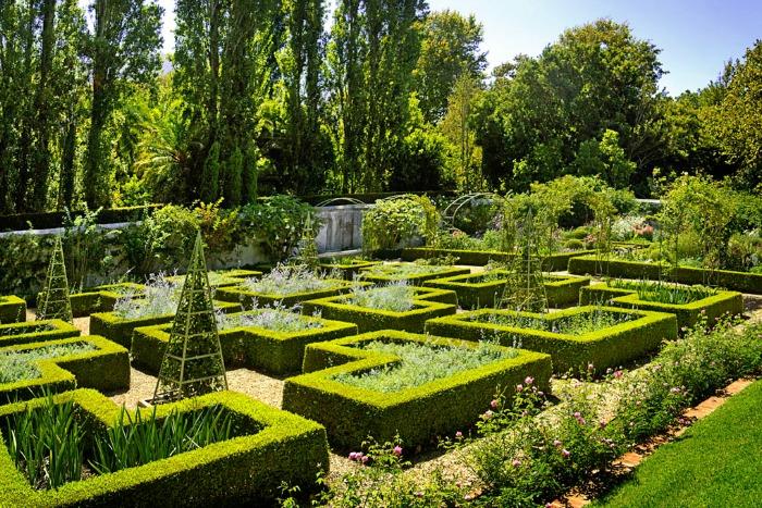 Stellenberg Gardens, parterres