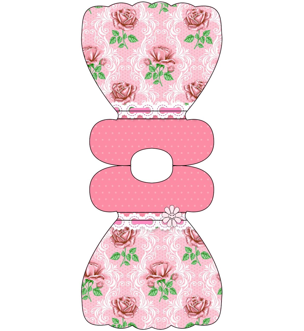 Shabby Chic Con Rosas Rosadas Invitaciones Para Imprimir