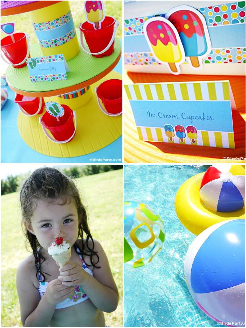 Pool Party Ideas Kids luau theme birthday party ideas pool partieskid Pool Party Ideas Printables Kids Summer Birthday Birdspartycom