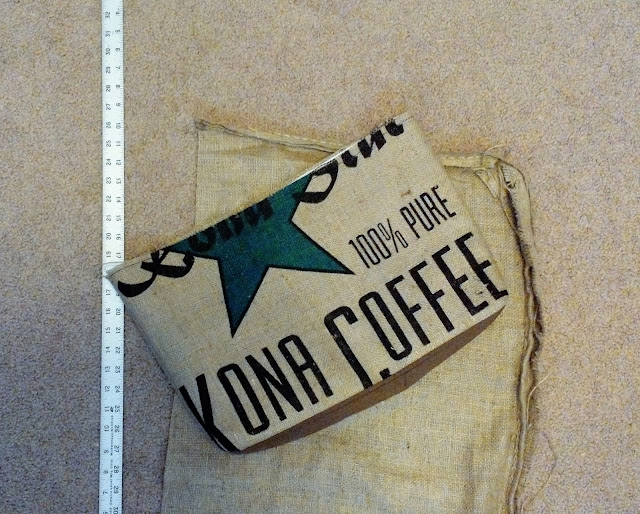 Kona Coffee Burlap Tote Bag - In Progress - Exterior - Lina and Vi Plymouth MI