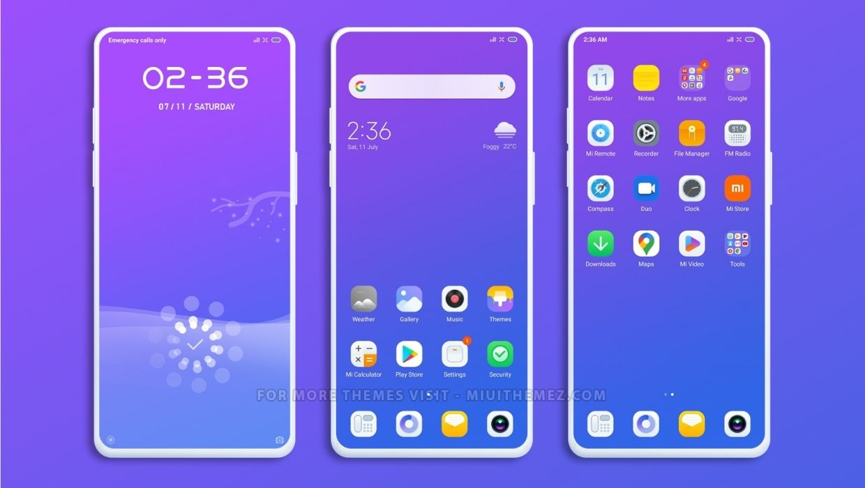 Sea land MIUI Theme