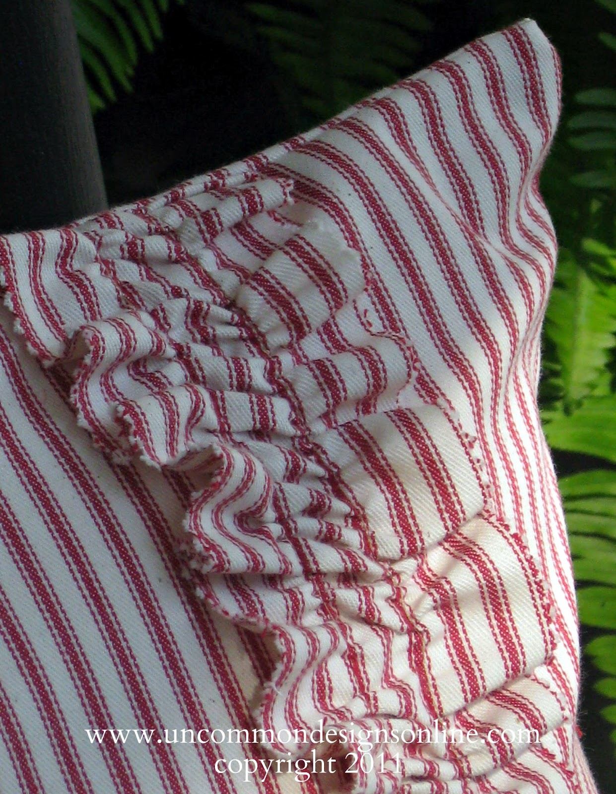 Ticking Stripe Porch Pillows For 4th Of July Uncommon Designs