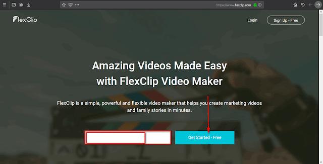 إنشاء الفيديو اون لاين مجانا FlexClip Free Online Video Maker