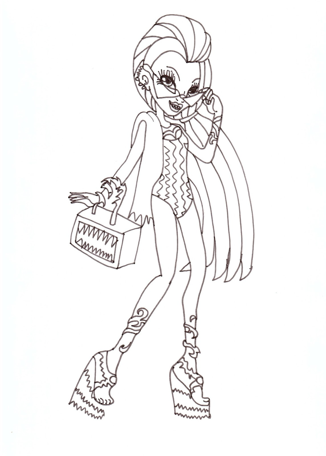 Venus McFlytrap Swim Class Coloring Sheet CLICK HERE TO PRINT Free Printable Monster High