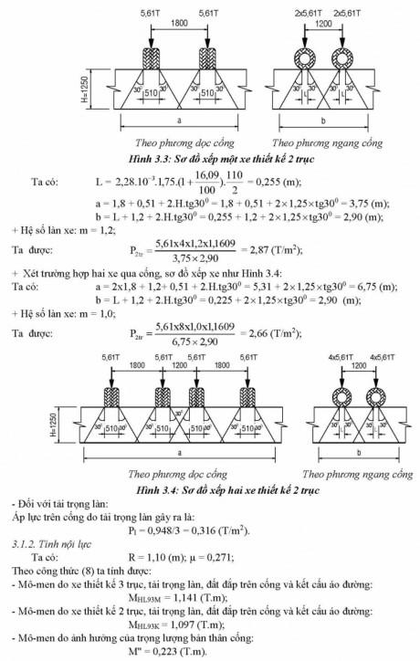 Phương pháp tính toán kết cấu cống tròn BTCT theo 22 TCN 272-05-4