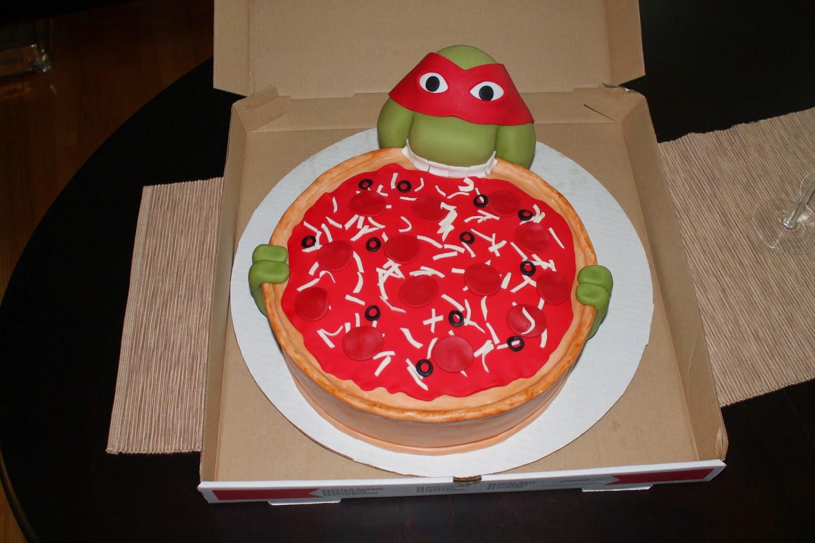 Creative Cakes By Lynn Mutant Ninja Turtle Pizza Cake
