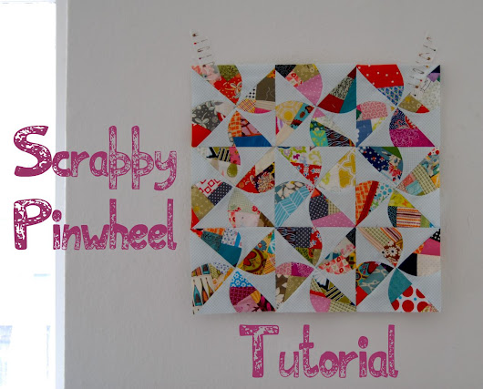 Scrappy Pinwheel - A Tutorial