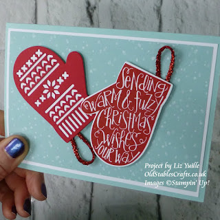 Smitten Mitten Christmas Card Stampin Up