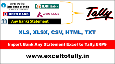 LOGO Import Bank Statement into Tally.ERP9 From Excel