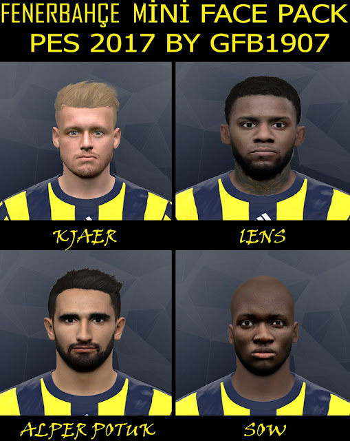 PES 2017 Fenerbahçe Mini Face Pack by GFB1907