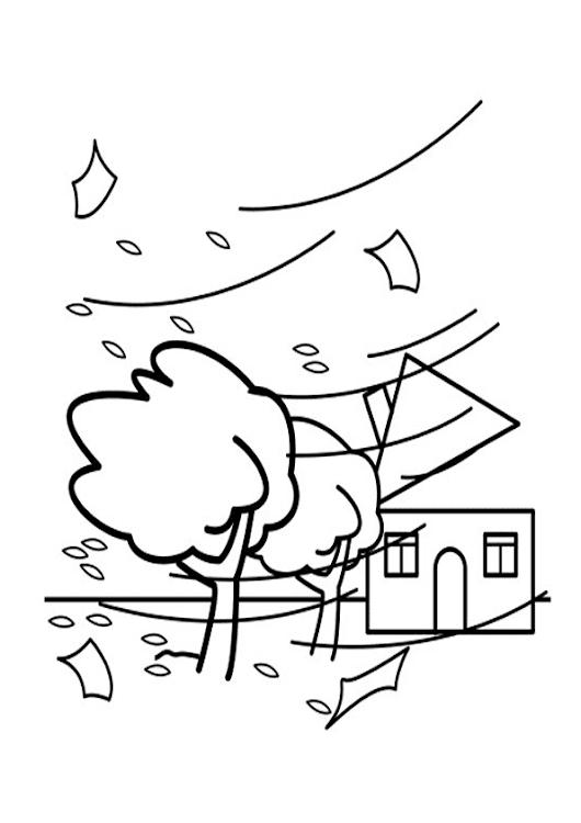 Dibujo para colorear de huracan