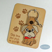Pug Key Chain, Purse Charm