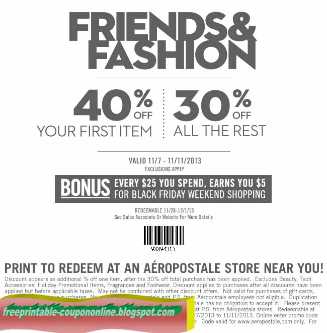 ps aeropostale coupon codes for free shipping