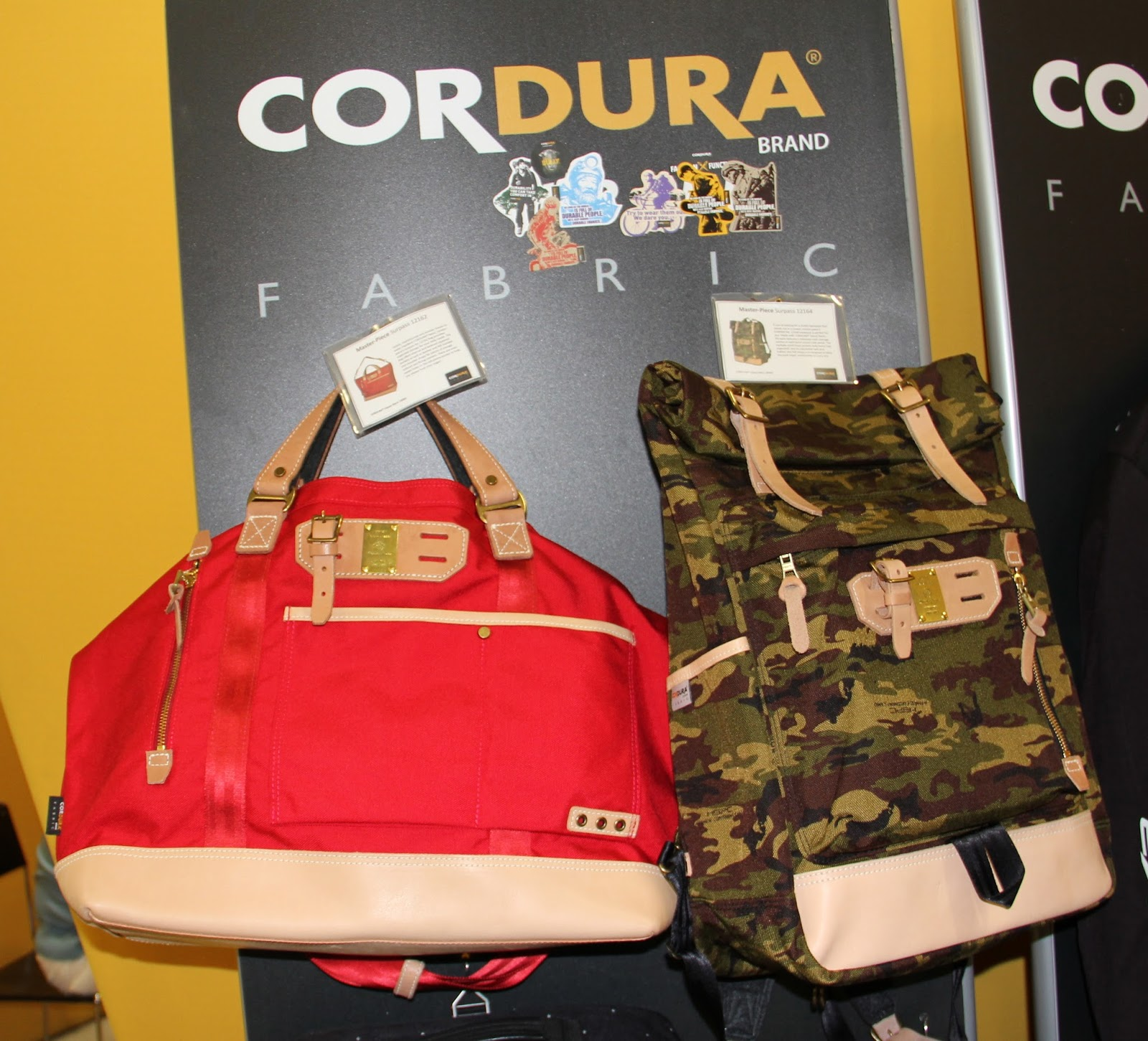 5421c04d26c 12164-a Japanese based company-Invista® s Cordura® Fabric and a whole lotta  style-company celebrating 20 years in the biz-with foldaway main storage ...