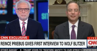 "Reince Priebus Defends POTUS' Replacement, Assures Wolf Blitzer: ""I'm on Team Trump"""