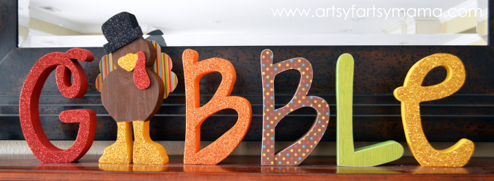 Gobble Word Set at artsyfartsymama.com #Thanksgiving