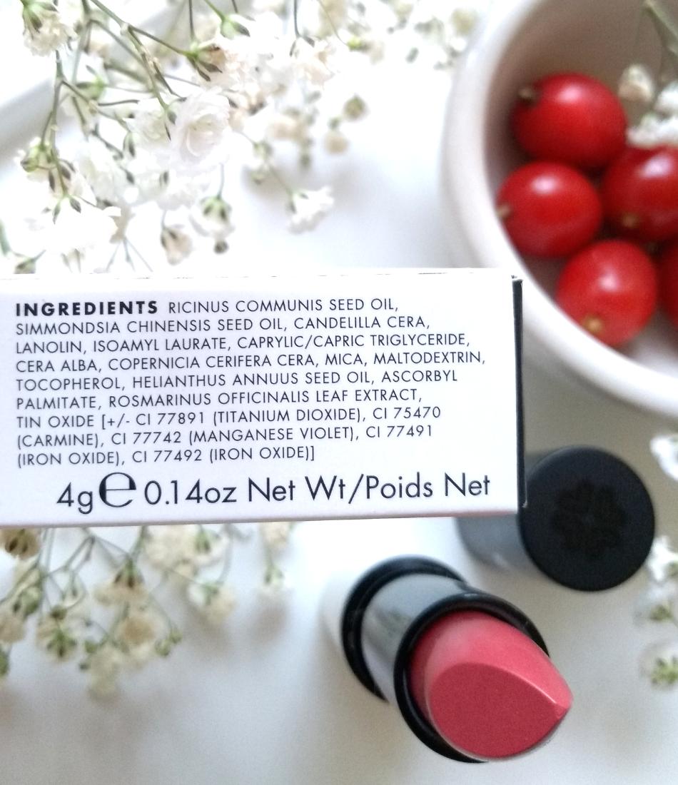 Lily Lolo naturalna szminka Romantic Rose dobry skład