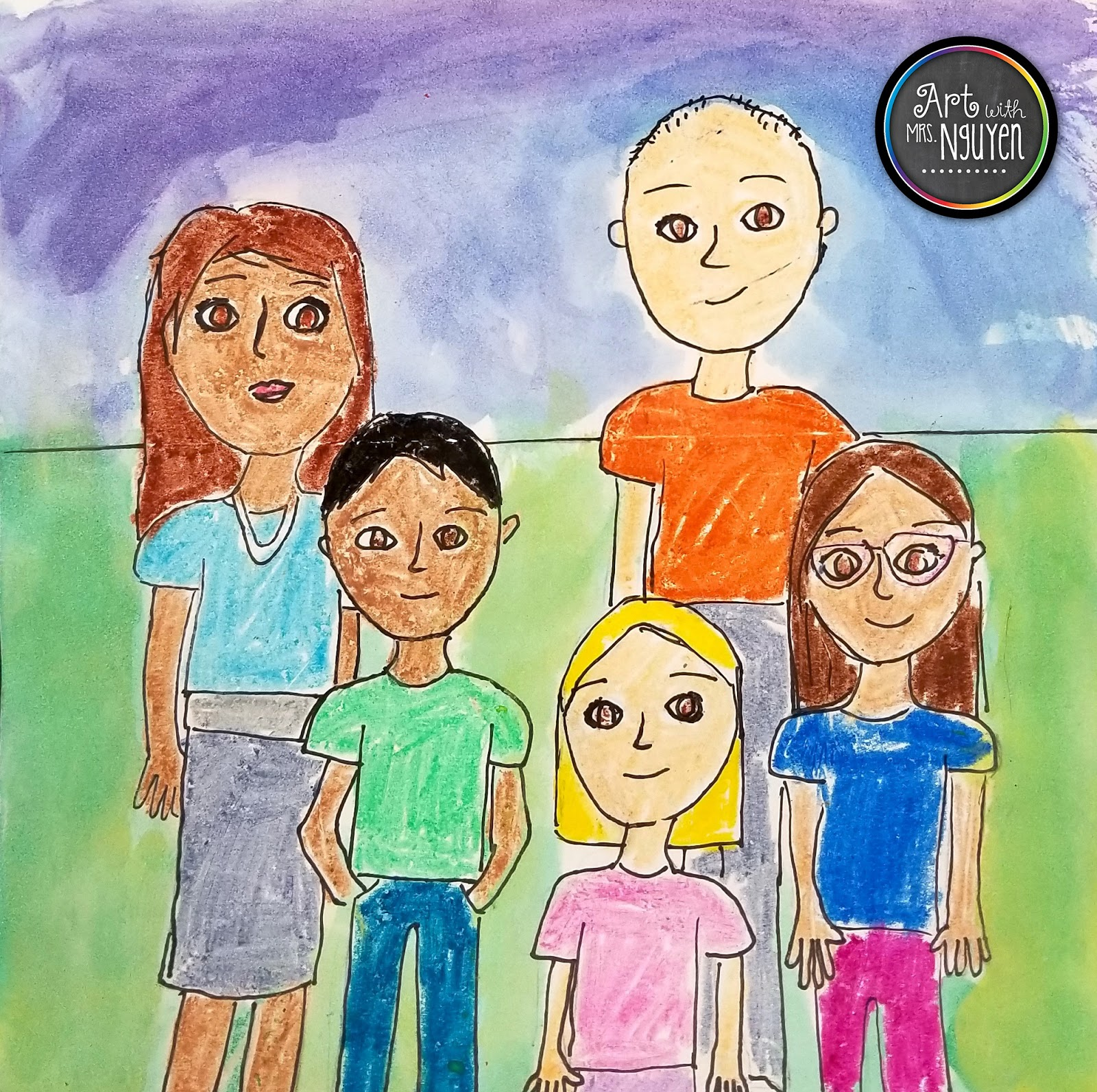 family portraits 3rd art with mrs nguyen