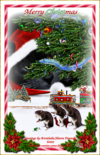 Santa Claws art by/copyrighted to Artsieladie