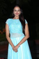 Pujita Ponnada in transparent sky blue dress at Darshakudu pre release ~  Exclusive Celebrities Galleries 114.JPG