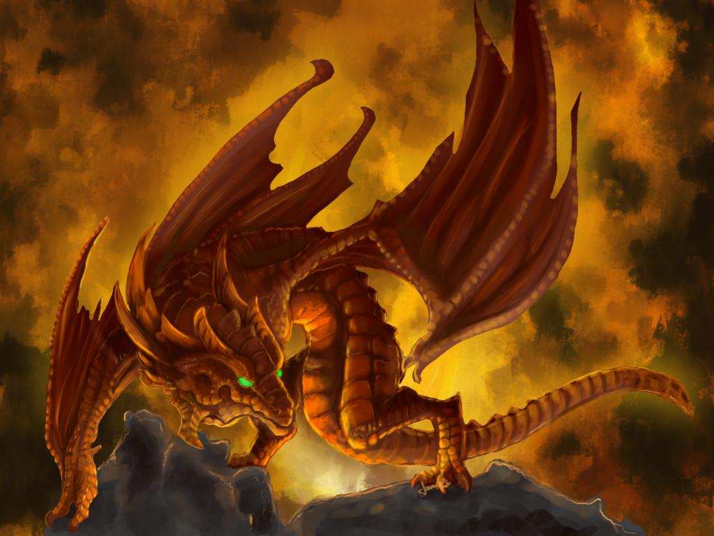 cartoon picture: Fire Dragon Wallpaper