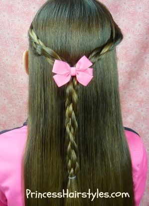 magnet braids half up hairstyle