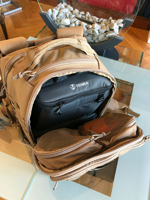 First Tactical Tactix 0.5 day backpack with Tenba BYOB 9 & 10 inserts